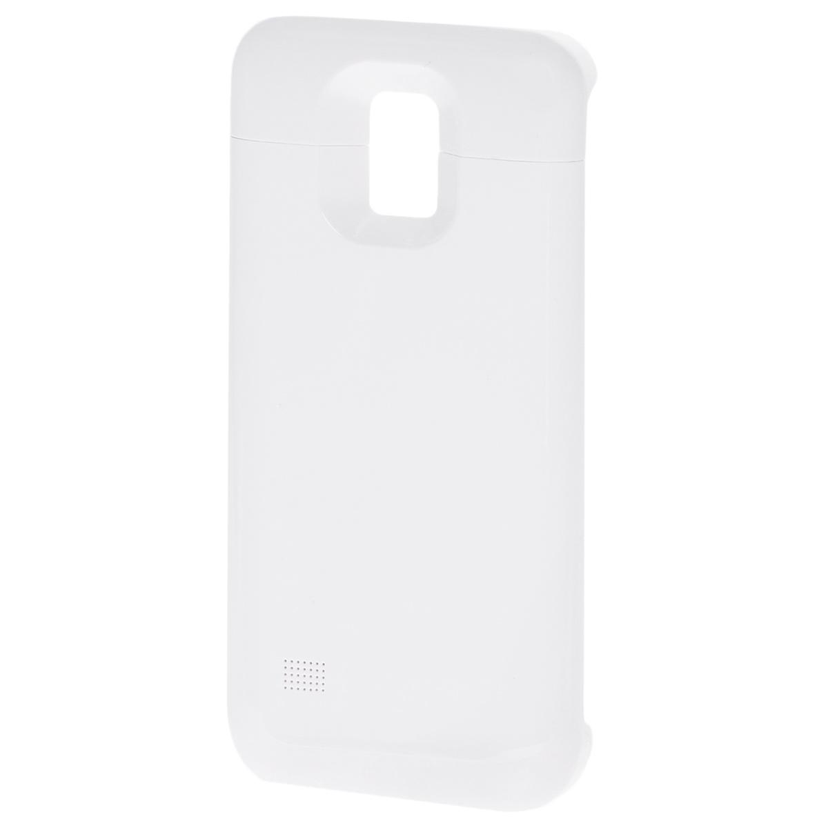 EXEQ HelpinG-SC09 чехол-аккумулятор для Samsung Galaxy S5 mini, White (3300 мАч, клип-кейс)HelpinG-SC09 WHExeq HelpinG-SC09 – компактный и надежный чехол-аккумулятор для Samsung Galaxy S5 mini. Как чехол Exeq HelpinG-SC09 надежно защититзаднюю панель вашего смартфона от ударов, царапин и загрязнений, как внешний аккумулятор с емкостью в 3300 мАч Exeq HelpinG-SC09обеспечит дополнительную подпитку батареи смартфона в самые необходимые моменты. При этом чехол-аккумулятор имеет настолькокомпактные размеры, что его подсоединение практически не повлияет на габариты самого смартфона. Да и весит чехол с аккумулятором всего69 г, что также не сильно утяжелит Ваш любимый смартфон.В качестве приятного дополнения Exeq HelpinG-SC09 имеет выдвижную подставку. Специальная конструкция чехла с выдвижной верхней частьюпозволит удобно и надежно поместить телефон в чехол, а при необходимости, легко и быстро достать телефон из чехла. Хотя извлекать телефониз надежного аксессуара вам вряд ли понадобится – заряжать телефон можно непосредственно в чехле, подключив к нему зарядное устройствотелефона и нажав кнопку питания на чехле. Если кнопку питания не нажимать, то будет происходить зарядка чехла-аккумулятора. Состояниеуровня заряда батареи чехла-аккумулятора отражают 4 индикатора на нижней части корпуса аксессуара (каждый индикатор отвечает за уровеньбатареи в 25%)