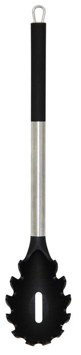 Ложка для спагетти Borner Ideal, длина 32 см860865Ложка для спагетти Borner Ideal, изготовленная из высококачественного пластика и нержавеющей стали, предназначена для раздачи спагетти. Отлично подойдёт для любителей итальянской кухни. Специально изготовленная ложка не позволит спагетти соскальзывать, а отверстия в её центре отлично пропускают жидкость, что позволяет использовать её для любых варёных продуктов. Ручка снабжена специальным отверстием для подвешивания.Ложка для спагетти Borner Ideal займет достойное место среди аксессуаров на вашей кухне.Можно мыть в посудомоечной машине. Длина изделия: 32 см. Размер рабочей поверхности: 9,5 см х 6 см х 4,5 см.
