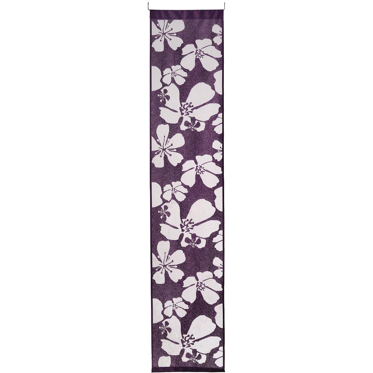 Гардина-панно Wisan, на кулиске, цвет: фиолетовый, высота 240 см. 98979897 фиолетовыйВоздушная гардина-панно Wisan, изготовленная из кружевного полиэстера, станет великолепным украшением любого окна. Изящный цветочный рисунок и приятная цветовая гамма привлекут к себе внимание и органично впишутся в интерьер комнаты. Гардина оснащена кулиской для крепления на штангу или на прищепы.