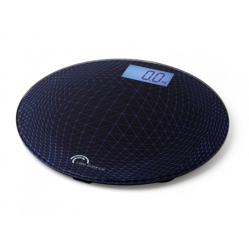 Весы напольные Little balance Exclusif 20, цвет: черный, синий какой фирмы напольные весы лучше купить