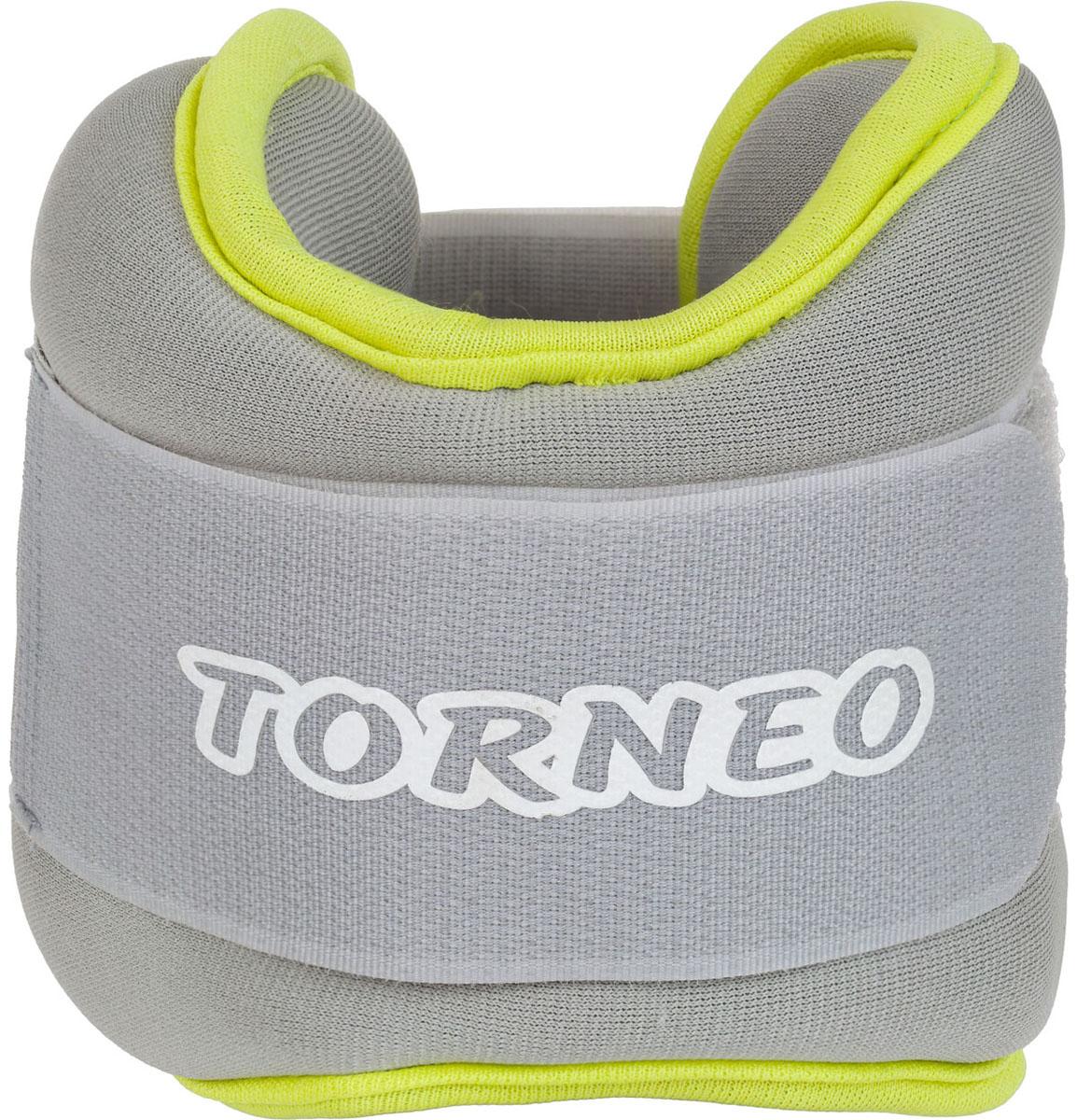 Утяжелители Torneo, цвет: серый, 2 х 1,25 кг