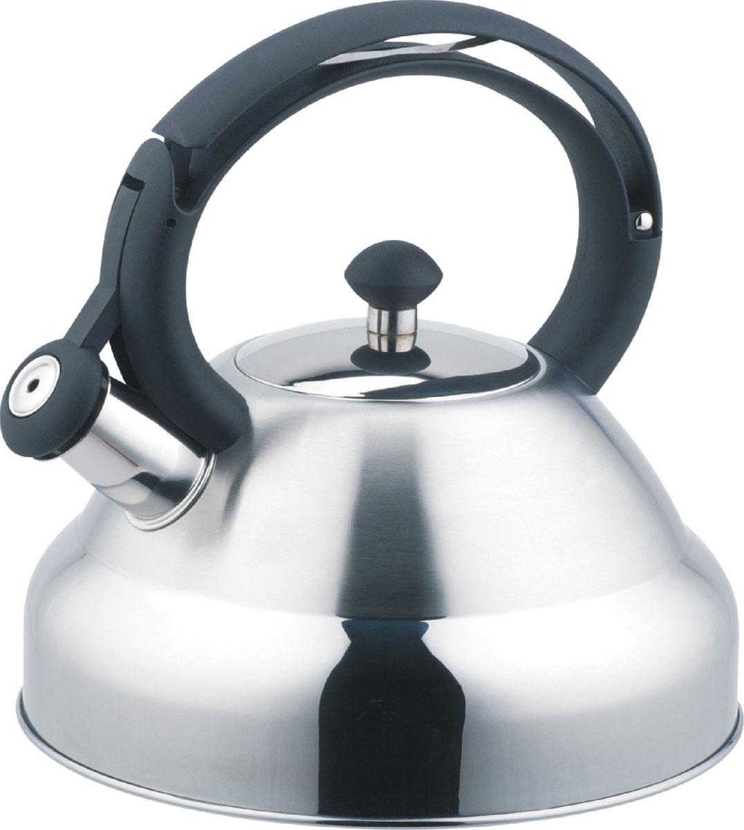 Чайник Bekker De Luxe со свистком, 2,7 л. BK-S403BK-S403Чайник Bekker De Luxe изготовлен из высококачественной нержавеющей стали 18/10. Поверхность матовая с зеркальной полосой внизу. Капсулированное дно распределяет тепло по всей поверхности, что позволяет чайнику быстро закипать. Эргономичная фиксированная ручка выполнена из бакелита черного цвета. Носик оснащен откидным свистком, который подскажет, когда вода закипела. Свисток открывается и закрывается нажатием кнопки на рукоятке. Подходит для всех типов плит, включая индукционные. Можно мыть мыть в посудомоечной машине.