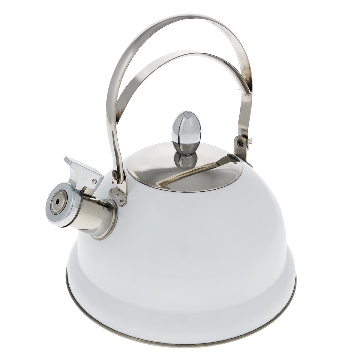 чайник bekker de luxe bk s576 Чайник Bekker De Luxe, со свистком, цвет: белый, 2,6 л. BK-S408