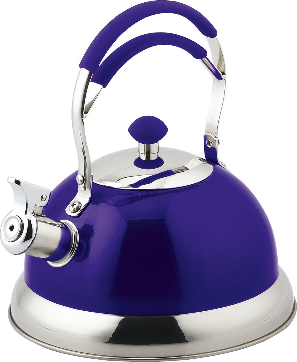 Чайник Bekker Premium, со свистком, цвет: синий, 3,2 л. BK-S567BK-S567Чайник Bekker Premium выполнен из высококачественной нержавеющей стали, что обеспечивает долговечность использования. Цветное зеркальное покрытие придает приятный внешний вид. Ручка из нержавеющей стали с силиконовым покрытием делает использование чайника очень удобным и безопасным. Капсулированное дно способствует равномерному распространению тепла. Чайник снабжен свистком. Нельзя мыть в посудомоечной машине и использовать в микроволновой печи. Пригоден для всех видов плит, включая индукционные. Высота чайника (без учета крышки и ручки): 11,5 см.Высота чайника (с учетом ручки и крышки): 26 см. Диаметр чайника (по верхнему краю): 9,5 см.Диаметр индукционного диска: 14 см.