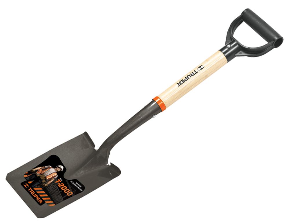 Мини-лопата совковая Truper, с деревянным черенком, 70 см мини лопата штыковая truper с черенком d ручка 69 см