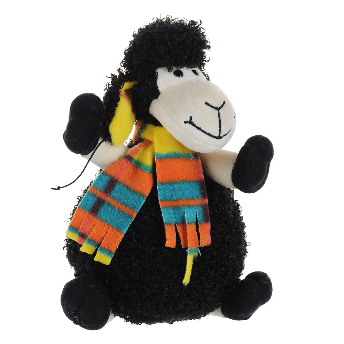 Мягкая игрушка Fancy Барашек Митя, в шапке, 28 см fancy мягкая игрушка собака эля 14 5 см