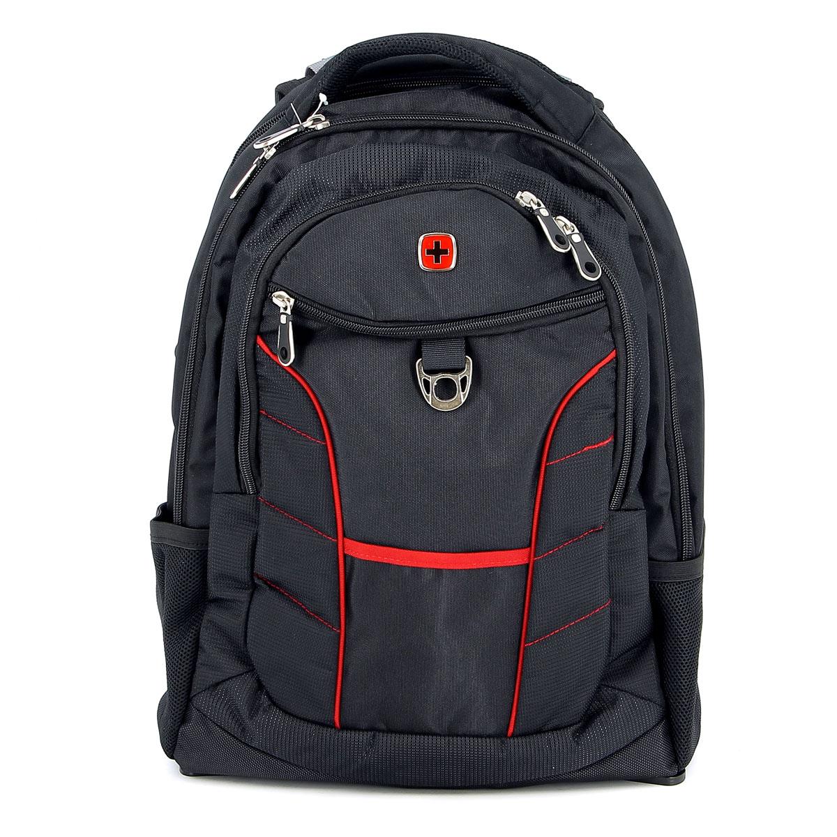 Рюкзак Wenger Rad, цвет: черный, красный, 35 см х 20 см х 47 см, 33 л1178215Рюкзак Wenger Rad – это самодостаточный, многофункциональный и надежный спутник своего владельца, как и знаменитый швейцарский нож! Благодаря многофункциональности рюкзака Wenger, вы можете легко организовать свои вещи, отправив ключи, мобильный телефон и еще тысячу мелочей в специальный карман-органайзер, положив ноутбук в надежный мягкий карман под спинкой. После этого останется еще много места для других необходимых вещей. Рюкзаки и сумки Wenger – это прежде всего современные материалы и фурнитура от надежных поставщиков и швейцарский контроль качества, благодаря которому репутация компании была и остается столь высокой. Продуманная конструкция и современные технологии проявляются главным образом в потрясающей надежности рюкзаков и сумок Wenger. А ведь надежность – самое важное качество и в амуниции, и в людях. Особенности рюкзака:Большой объем для хранения: основное отделение предоставляет достаточный объем для папок, электронных игр и других аксессуаров.Мягкое отделение для ноутбука: регулируемый ремень с липучкой может закрепить ноутбуки с размером экрана 15 дюймов. Эластичные сетчатые карманы удобны для аксессуаров. Система циркуляции воздуха: дизайн задней мягкой вставки для спины обеспечивает циркуляцию воздуха для комфорта и максимального удобства. Плечевые ремни: эргономичные ремни анатомической формы разработаны с дополнительным уплотнением для удобства и контроля. Карман для бутылки воды: внешние двойные карманы из эластичной сетки удобны для бутылок различного размера. Отверстие для провода наушников: внутренний карман подходит для большинства МР3 плееров с внешним портом для наушников. Карман для мелких предметов: внутренний карман-органайзер включает съемную ключницу и раздельные кармашки для ручек, карандашей, мобильного телефона и CD дисков. Петля для очков: благодаря эластичной петле на плечевом ремне удобно хранить солнцезащитные очки и они легко доступно.По всем вопросам