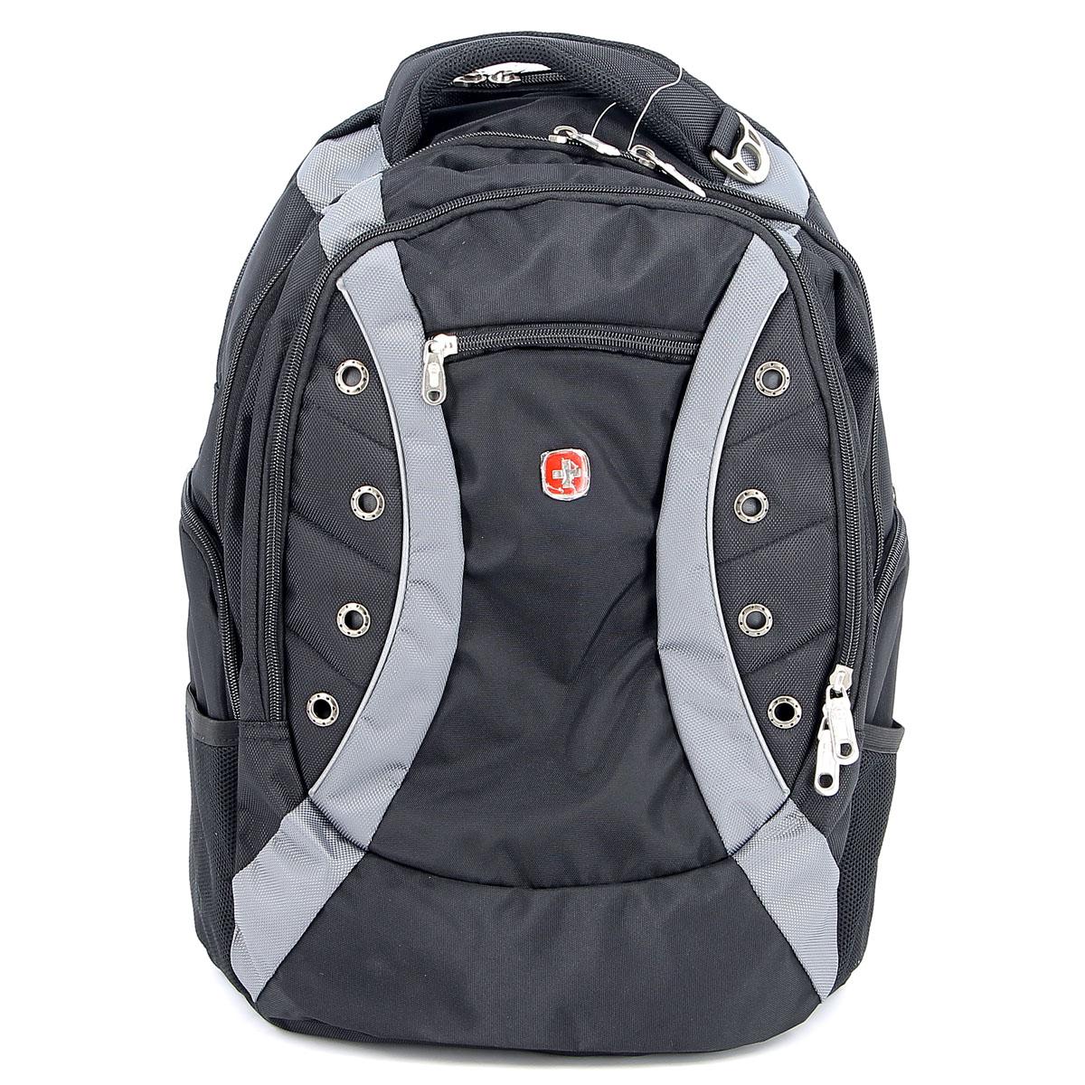 Рюкзак Wenger Zoom, цвет: черный, серый, 36 см х 21 см х 47 см, 35 л1191215Рюкзак Wenger Zoom - это самодостаточный, многофункциональный и надежный спутник своего владельца, как и знаменитый швейцарский нож! Благодаря многофункциональности рюкзака Wenger, вы можете легко организовать свои вещи, отправив ключи, мобильный телефон и еще тысячу мелочей в специальный карман-органайзер, положив ноутбук в надежный мягкий карман под спинкой. После этого останется еще много места для других необходимых вещей. Рюкзаки и сумки Wenger - это прежде всего современные материалы и фурнитура от надежных поставщиков и швейцарский контроль качества, благодаря которому репутация компании была и остается столь высокой. Продуманная конструкция и современные технологии проявляются главным образом в потрясающей надежности рюкзаков и сумок Wenger. А ведь надежность - самое важное качество и в амуниции, и в людях!Особенности рюкзака: Большой объем для хранения: основное отделение предоставляет достаточный объем для папок, электронных игр и других аксессуаров. Мягкое отделение для ноутбука: регулируемый ремень с липучкой может закрепить ноутбуки с размером экрана 15 дюймов. Эластичные сетчатые карманы удобны для аксессуаров. Система циркуляции воздуха: дизайн задней мягкой вставки для спины обеспечивает циркуляцию воздуха для комфорта и максимального удобства.Плечевые ремни: эргономичные ремни анатомической формы разработаны с дополнительным уплотнением для удобства и контроля. Карман для бутылки воды: карман из эластичной сетки удобен для хранения бутылок любого размера.Отверстие для провода наушников: внутренний карман подходит для большинства МР3 плееров с внешним портом для наушников. Карман для мелких предметов: внутренний карман-органайзер включает съемную ключницу и раздельные кармашки для ручек, карандашей, мобильного телефона и CD дисков. Петля для очков: благодаря эластичной петле на плечевом ремне удобно хранить солнцезащитные очки и они легко доступны. По всем вопросам гарантийног
