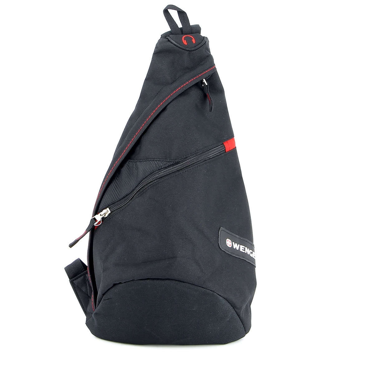 Рюкзак Wenger, с одним плечевым ремнем, цвет: черный, красный, 25 см x 15 см x 45 см, 7 л