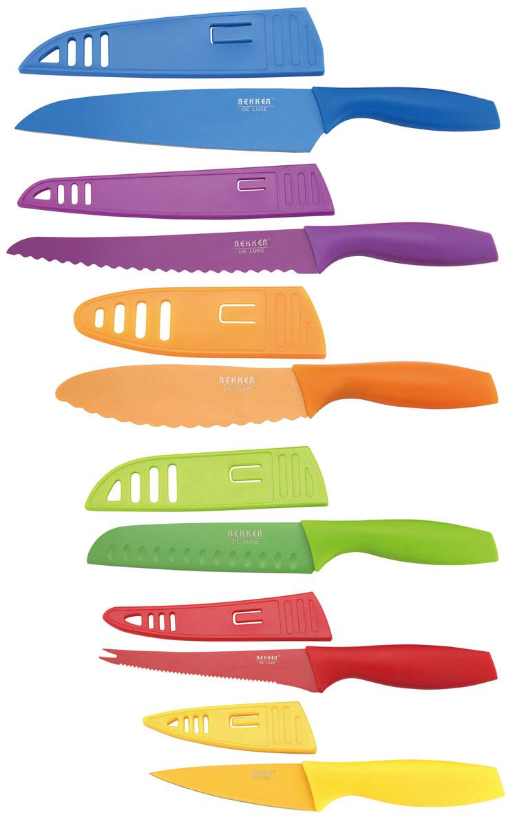 Набор ножей Bekker De Luxe, 6 предметов. BK-8443 нож сантоку tefal zen керамический длина лезвия 13 см
