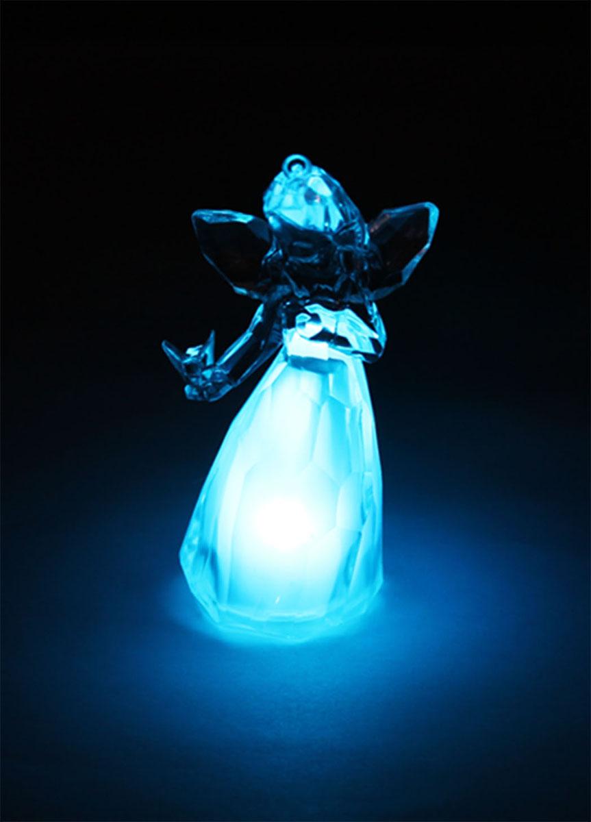 Новогодняя декоративная фигурка Kosmos Ангел, с подсветкой, высота 10,5 см
