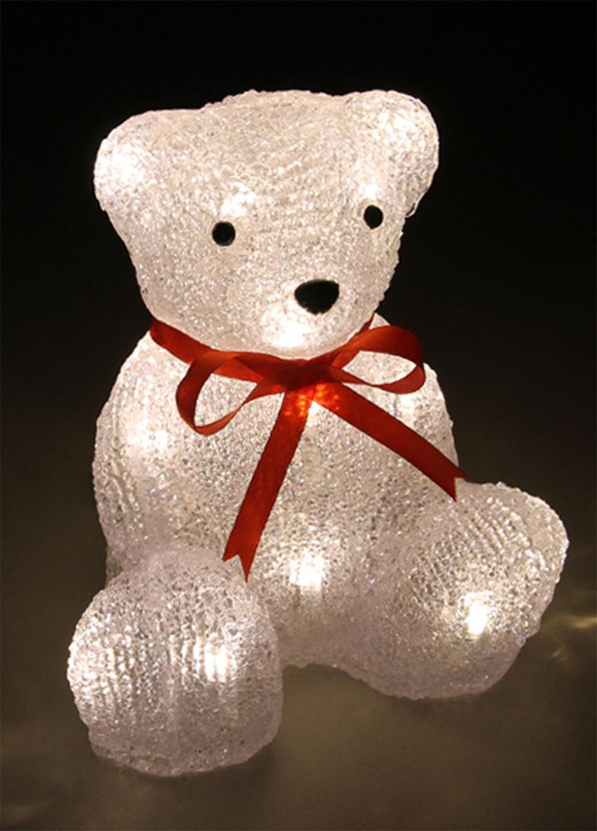 Новогодняя декоративная фигурка Kosmos Медведь, с подсветкой, высота 19 смKOCNL-EL123Новогодняя декоративная фигурка Kosmos Медведь выполнена из высококачественного акрила и текстиля. Особенностью данной фигурки является наличие светодиодного устройства, благодаря которому украшение светится. Светодиоды расположены внутри корпуса и при включении фигурка наполняется мягким светом. Такая оригинальная фигурка оформит интерьер вашего дома или офиса в преддверии Нового года. Оригинальный дизайн и красочное исполнение создадут праздничное настроение. Кроме того, это отличный вариант подарка для ваших близких и друзей. УВАЖАЕМЫЕ КЛИЕНТЫ!Обращаем ваше внимание, фигурка работает от сети 220 V.
