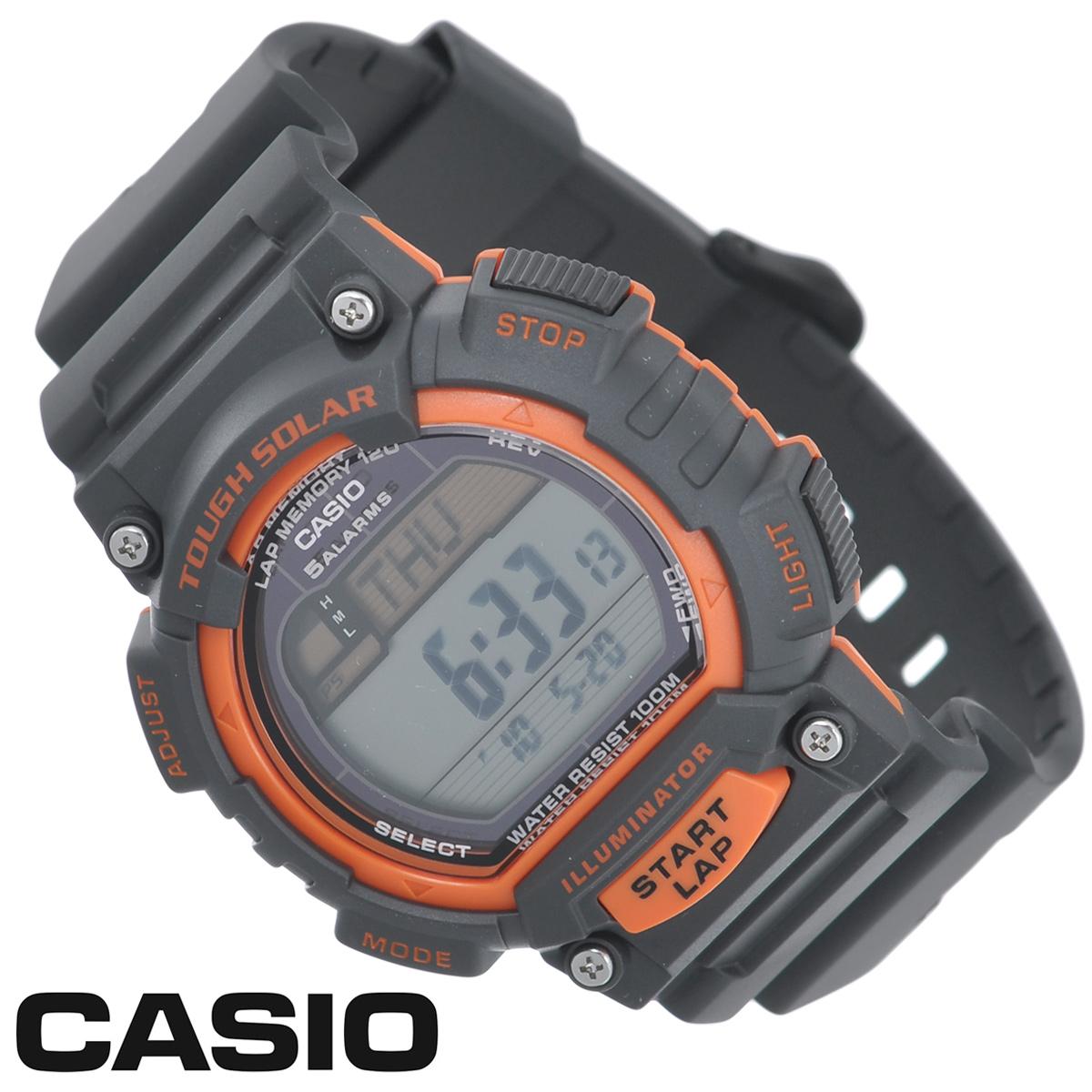 Часы мужские наручные Casio, цвет: черный, оранжевый. STL-S100H-4ASTL-S100H-4AСтильные электронно-механические часы от японского брэнда Casio - это яркий функциональный аксессуар для современных людей, которыестремятся выделиться из толпы и подчеркнуть свою индивидуальность. Часы выполнены в спортивном стиле.Часы оснащены японским кварцевым механизмом. Корпус и ремешок часов изготовлены из пластика. ЖК-дисплей с LED-подсветкой защищенпластиковым стеклом. Ремешок имеет классическую застежку.Основные функции: -индикатор заряда батареи; -функция автоматического сохранения энергии; -секундомер с точностью показаний 1/100с и временем измерения 1ч; -память на 120 этапов; -номер и лучшее время этапа; -два таймера обратного отсчета времени от 5 с до 100 мин с устанавливаемым количеством повторов от 1 до 10; -мировое время; -12-ти и 24-х часовой формат времени; -функция отключения/включения звука. Питание часов осуществляется от солнечной энергии. Время работы аккумулятора без подзарядки - 11 месяцев, при включенной функциисохранения энергии - 38 месяцев. Часы упакованы в фирменную коробку с логотипом Casio. Такой аксессуар добавит вашему образу стиля и подчеркнет безупречный вкуссвоего владельца.Характеристики: Диаметр циферблата: 3,2 см.Размер корпуса: 5,1 см х 4,5 см х 1,3 см.Длина ремешка (с корпусом): 25 см.Ширина ремешка: 2 см. STAINLESS STELL BACK MADE IN CHINA EA.