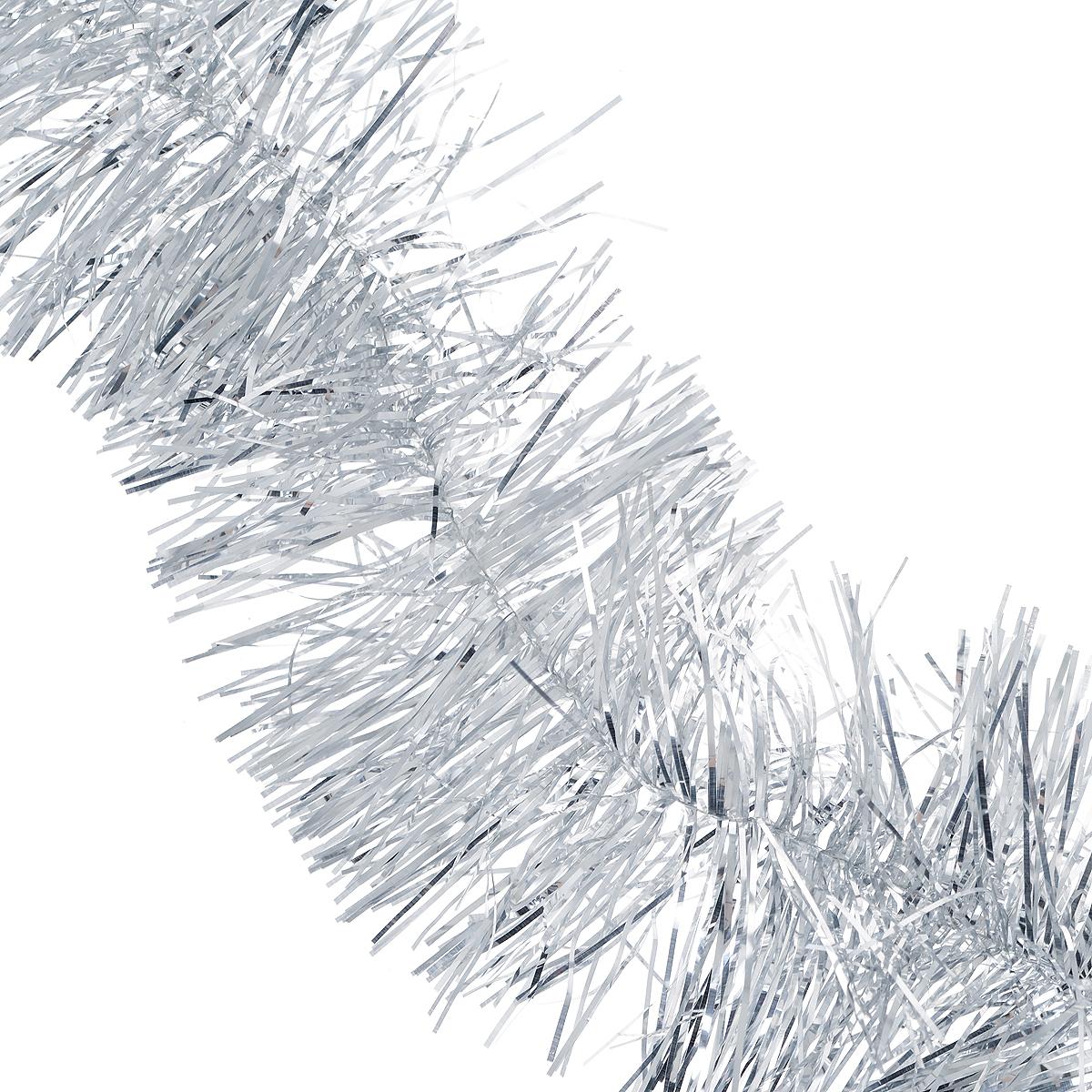 Мишура новогодняя Magic Time, диаметр 12 см, длина 2 м, цвет: серебристый. 3488134881/75757Новогодняя мишура Magic Time, выполненная из ПЭТ, поможет вам украсить свой дом к предстоящим праздникам. А новогодняя елка с таким украшением станет еще наряднее. Мишура армирована, то есть имеет проволоку внутри и способна сохранять приданную ей форму. Новогодней мишурой можно украсить все, что угодно - елку, квартиру, дачу, офис - как внутри, так и снаружи. Можно сложить новогодние поздравления, буквы и цифры, мишурой можно украсить и дополнить гирлянды, можно выделить дверные колонны, оплести дверные проемы. Коллекция декоративных украшений из серии Magic Time принесет в ваш дом ни с чем несравнимое ощущение праздника! Создайте в своем доме атмосферу тепла, веселья и радости, украшая его всей семьей.Длина: 2 м.