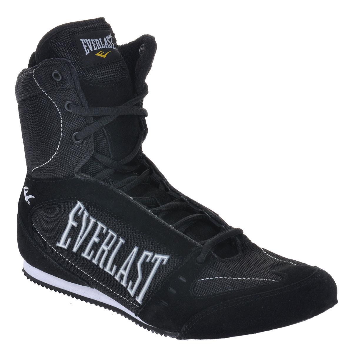 Боксерки Everlast High-Top Competition, размер 7 (RUS 39,5), цвет: черный. 527 7 BK - Единоборства