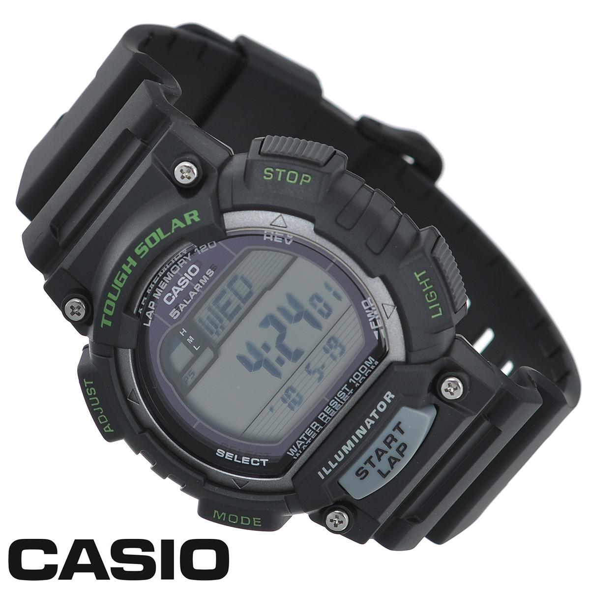 Часы мужские наручные Casio, цвет: черный, серый. STL-S100H-1ASTL-S100H-1AСтильные электронно-механические часы от японского брэнда Casio - это яркий функциональный аксессуар для современных людей, которые стремятся выделиться из толпы и подчеркнуть свою индивидуальность. Часы выполнены в спортивном стиле. Часы оснащены японским кварцевым механизмом. Корпус и ремешок часов изготовлены из пластика. ЖК-дисплей с LED-подсветкой защищен пластиковым стеклом. Ремешок имеет классическую застежку.Основные функции:-индикатор заряда батареи;-функция автоматического сохранения энергии;-секундомер с точностью показаний 1/100с и временем измерения 1ч;-память на 120 этапов;-номер и лучшее время этапа;-два таймера обратного отсчета времени от 5 с до 100 мин с устанавливаемым количеством повторов от 1 до 10;-мировое время;-12-ти и 24-х часовой формат времени;-функция отключения/включения звука.Питание часов осуществляется от солнечной энергии. Время работы аккумулятора без подзарядки - 11 месяцев, при включенной функции сохранения энергии - 38 месяцев.Часы упакованы в фирменную коробку с логотипом Casio. Такой аксессуар добавит вашему образу стиля и подчеркнет безупречный вкус своего владельца.Характеристики:Диаметр циферблата: 3,2 см. Размер корпуса: 5,1 см х 4,5 см х 1,3 см. Длина ремешка (с корпусом): 25 см. Ширина ремешка: 2 см.STAINLESS STELL BACK MADE IN CHINA EA.