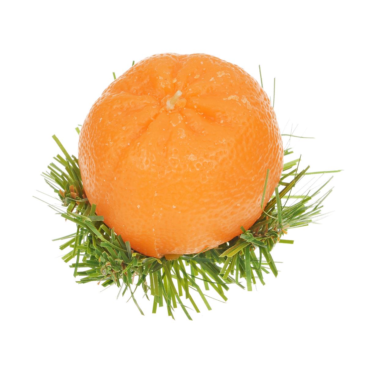 Свеча декоративная Sima-land Новогодний мандарин, цвет: оранжевый769795