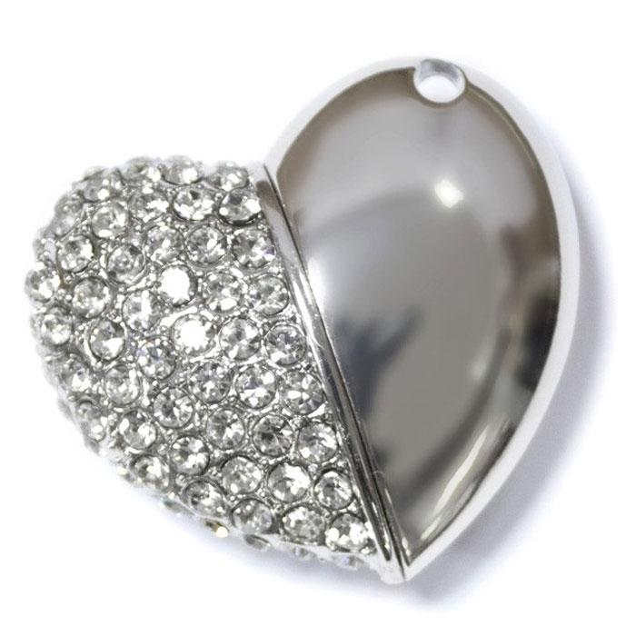 Iconik Сердце Swarovski Crystal 32GB, Silver USB-накопитель - Носители информации