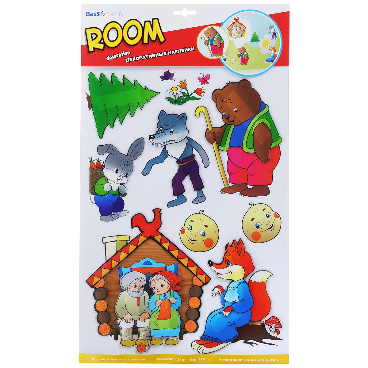 Наклейки для интерьера Room Decoration Колобок, объемные, 41 х 29 см наклейки для интерьера room decoration кокетка со стразами 50 х 32 см