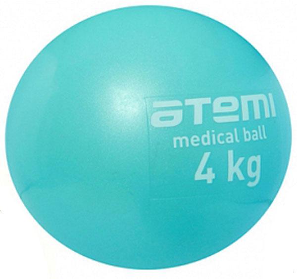 Медицинбол Atemi, цвет: голубой, диаметр 19 см, 4 кг