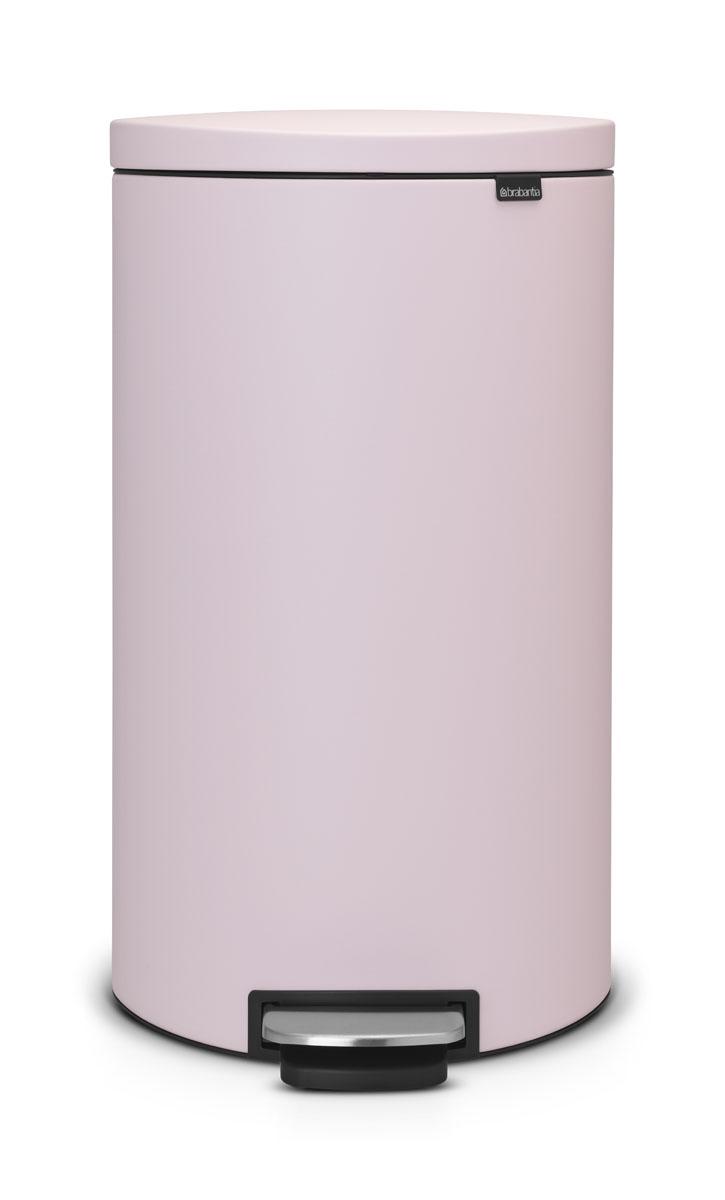 Бак мусорный Brabantia FlatBack+, с педалью, цвет: розовый, 30 л. 103988 бак из нержавейки купить 250 л