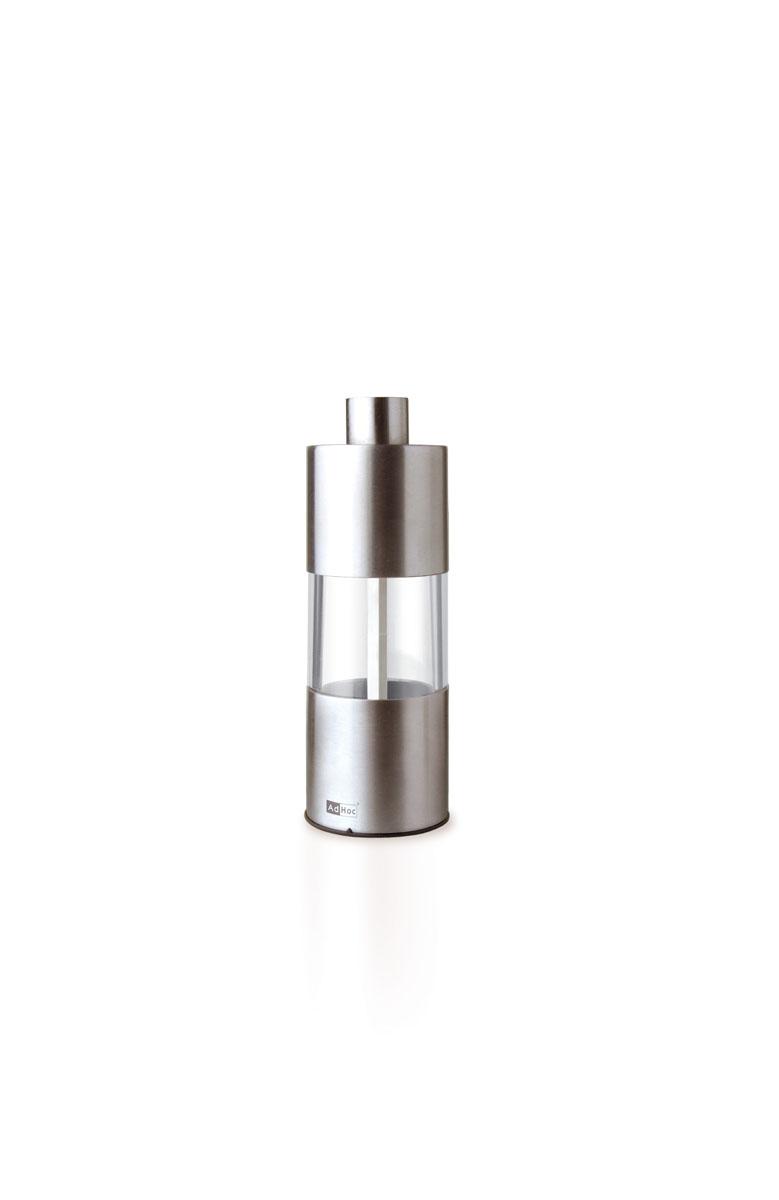 Мельница для соли/перца AdHoc, сталь010.070800.011Мельница AdHoc станет незаменимым помощником на вашей кухне. Механическая мельница для соли и перца изготовлена из акрила и нержавеющей стали. Механизм внутри мельницы сделан из высококачественной керамики. Регулируется степень измельчения. Мельницы от немецкой компании AdHoc выглядят стильно и уникально. Особенно понравятся эстетам или людям с нестандартным, интересным кухонным интерьером. Оригинальная мельница стильного дизайна будет отлично смотреться на вашей кухне.Высота мельницы: 13 см. Диаметр мельницы: 5 см.