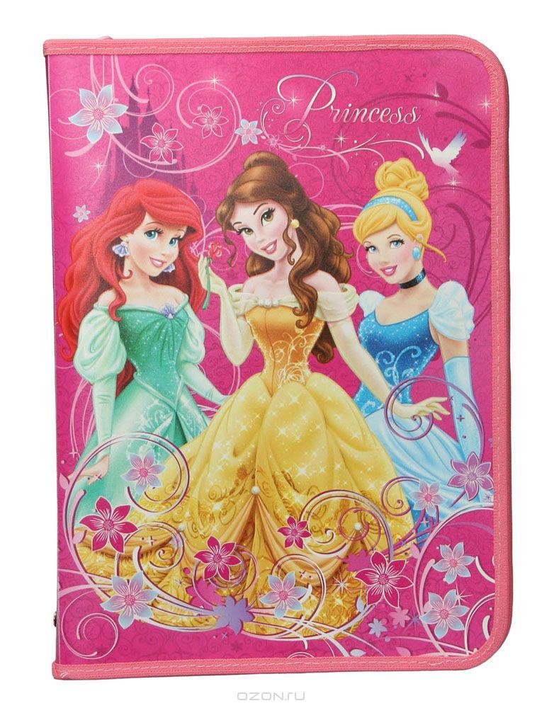 Папка для труда Disney Princess, цвет: малиновый. Формат А4 пазл origami disney disney princess рапунцель со стразами