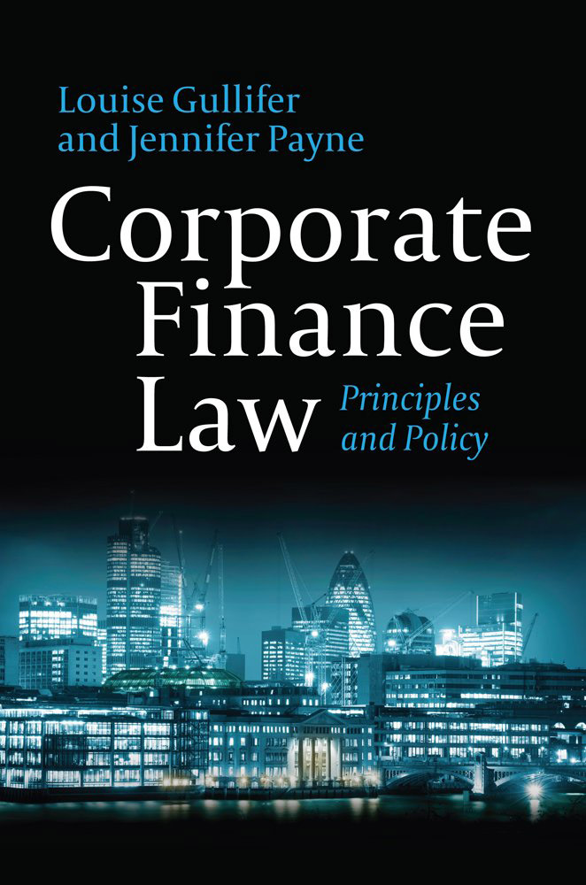 Corporate Finance Law: Principles and Policy corporate takeovers