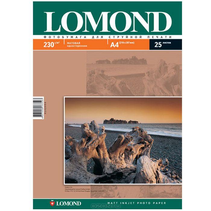 Lomond Photo 230/A4/25л матовая односторонняя фотобумага lomond фотобумага lomond 0102041 a4 130г м2 25л белый глянцевое для струйной печати