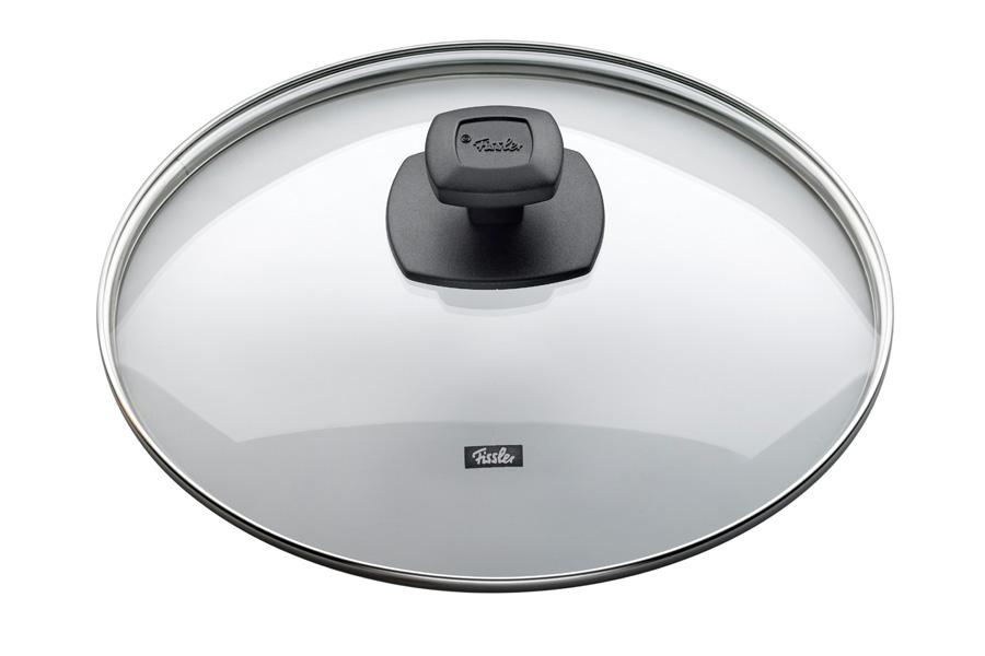 Крышка стеклянная Fissler, 20см175000202Прозрачная крышка позволяет наблюдать за процессом приготовления. Очень практично и удобно! Крышка изготовлена из жаропрочного стекла и выдерживает температуру до 220С. Обод крышки изготовлен из высококачественной стали 18/10. Подходит для всех сковород Fissler соответствующего диаметра. Цвет: черный