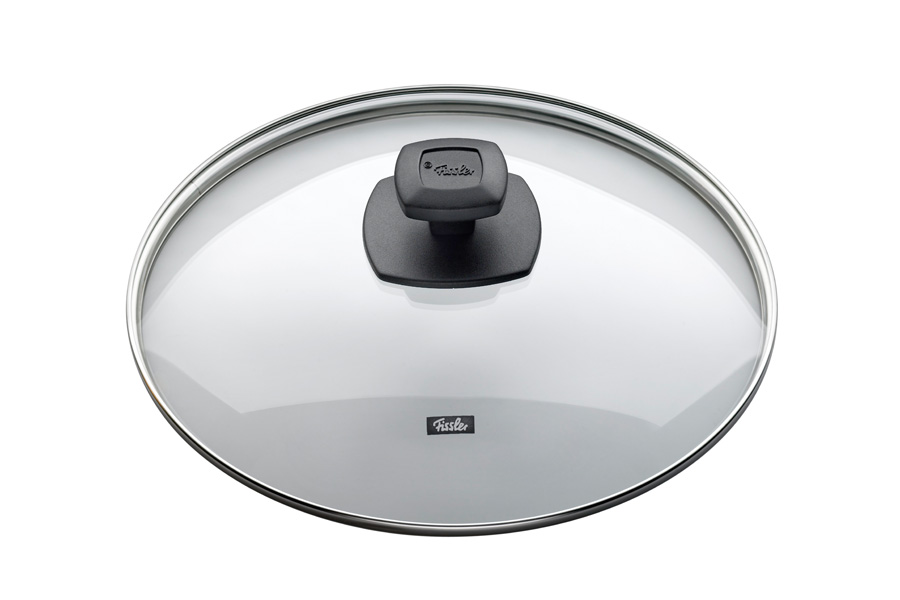 Крышка стеклянная Fissler, 26см175000262Прозрачная крышка позволяет наблюдать за процессом приготовления. Очень практично и удобно! Крышка изготовлена из жаропрочного стекла и выдерживает температуру до 220С. Обод крышки изготовлен из высококачественной стали 18/10. Подходит для всех сковород Fissler соответствующего диаметра. Цвет: черный