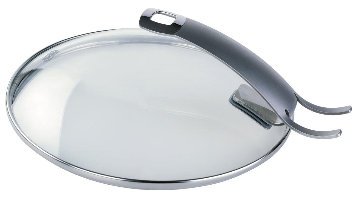Крышка стеклянная Fissler, цвет: золотистый. Диаметр 26 см185000262Крышка Fissler изготовлена из жаропрочного стекла.Обод и ручка, выполненные из высококачественнойстали18/10, защищают крышку от повреждений. Ручка,выполненная в виде подставки, позволяет устанавливатькрышку в вертикальном положении и экономит рабочеепространство на кухне.Крышка удобна в использовании. Она позволяетконтролировать процесс приготовления пищи. Имеетсяотверстие для выпуска пара. Изделие подходит для всех сковород Fisslerсоответствующего диаметра.