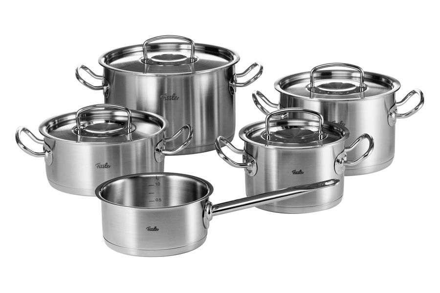 Набор кастрюль Fissler, серия Original pro collection, 5 пр. 8412325 кастрюля kuchenprofi 1 5 л 16х7 5 см 23 7070 28 16