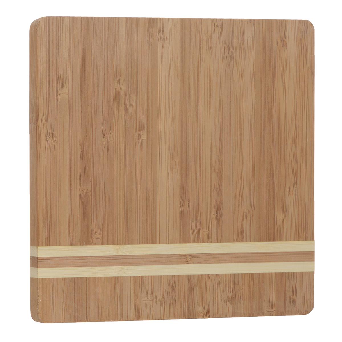 Доска разделочная Bekker, бамбуковая, 20 см х 20 см. BK-9724 разделочная доска bekker вк 9708