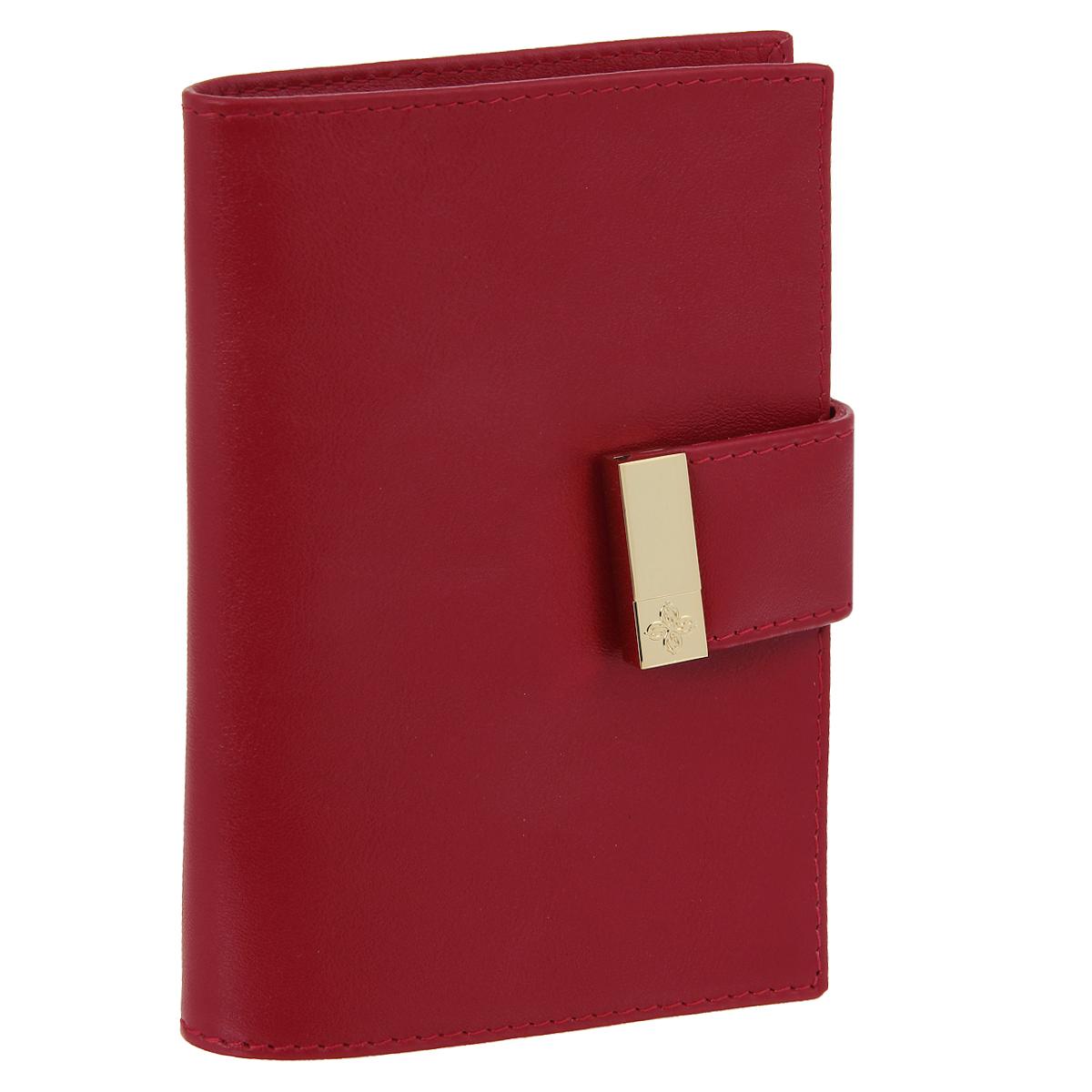 Обложка для паспорта Dimanche Elite, цвет: красный. 040040Обложка для паспорта Dimanche Elite выполнена из натуральной высококачественной матовой кожи и закрывается хлястиком на застежку-кнопку. На внутреннем развороте два кармана из прозрачного пластика. Обложка упакована в фирменную картонную коробку. Такая обложка станет отличным подарком для человека, ценящего качественные и стильные вещи.