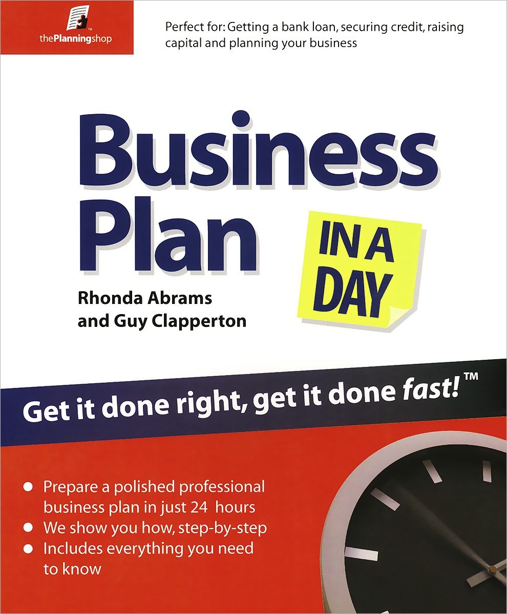 Business Plan In a Day business plan for a start up of an information brokering company