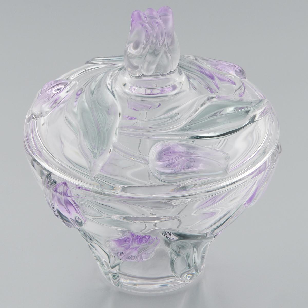 Сахарница Walther-Glas Nadine, диаметр 15 см17319Сахарница Walther-Glas Nadine выполнена из высококачественного толстого стекла и декорирована рельефом в форме цветов. Сахарница, несомненно, понравится любителям классического стиля. Такая сахарница украсит ваш праздничный или обеденный стол, а яркое оформление понравится любой хозяйке.Применять только мягкие моющие средства и избегать мытья в посудомоечной машине.