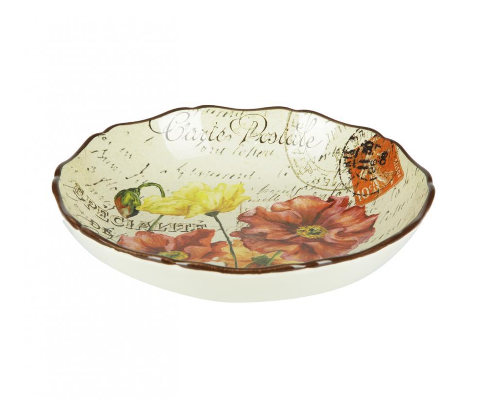 Набор суповых тарелок Парижские маки, диаметр 23 см, 4 шт43332/4Набор суповых тарелок Парижские маки из керамики займет достойное место на вашей кухне. Американскую керамику отличает практичность и высокое качество исполнения каждого изделия. Посуда расписана вручную и покрыта глазурью, выполнена из экологически чистых материалов, что обеспечивает сохранение отменного вкуса каждого блюда и его длительное хранение.Эта керамическая посуда химически инертна, не вступает в реакцию с пищей, не выделяет вредных веществ при перегреве.