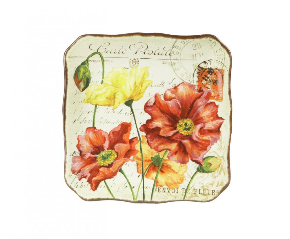 """Набор тарелок """"Парижские маки"""" из керамики займет достойное место на вашей кухне.        Американскую керамику отличает практичность и высокое качество исполнения каждого изделия. Посуда расписана вручную и покрыта глазурью, выполнена из экологически чистых материалов, что обеспечивает сохранение отменного вкуса каждого блюда и его длительное хранение.         Эта керамическая посуда химически инертна, не вступает в реакцию с пищей, не выделяет вредных веществ при перегреве."""