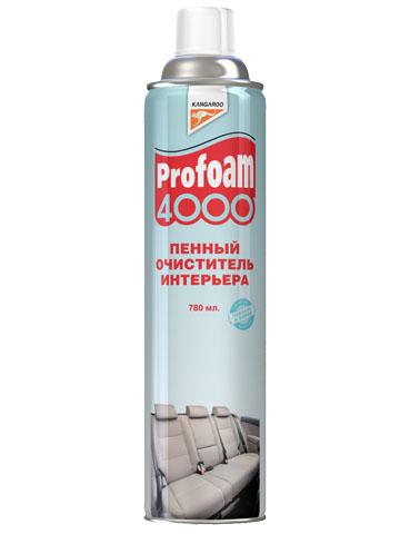 Очиститель интерьера Kangaroo Profoam 4000, пенный, 780 мл320492Очиститель интерьера Kangaroo Profoam 4000 - это универсальное очищающее средство для чистки обивки автомобильных сидений, ковровых покрытий, ткани и велюра. Великолепно очищает любые ковровые и тканевые поверхности за счет входящей в пену улучшенной формулы поверхностно-активных веществ. Очищает самые стойкие пятна, такие как жир и грязь, при этом сохраняет цвет и не повреждает структуру материала. Не оставляет разводов после использования. Широко используется в быту.