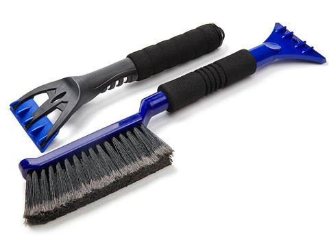 Набор для уборки снега и льда Clingo, цвет: синий, 2 предмета комплект для уборки альтернатива комфорт жесткая щетина цвет синий 2 предмета