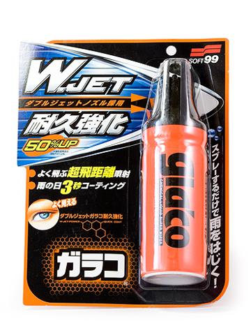 Антидождь Soft 99 Glaco W Jet Strong, для стекол, 180 мл4169Водоотталкивающее покрытие Soft 99 Glaco W Jet Strong предназначено для обработки стекол и зеркал автомобиля. За 3 секунды образует на стекле водоотталкивающее покрытие длительного действия во время дождя. С двойным распылителем! По результатам испытаний двойной распылитель наносит средство более интенсивно и на большем расстоянии, чем распылитель предыдущего поколения. Данное средство можно безопасно наносить даже в сильный дождь.