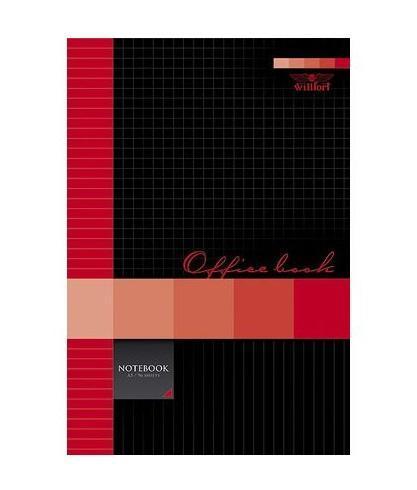 W Бизнес-блокнот 96л А5ф 80 гр/кв.м клетка тв.переплет -Office Book- Красный блокнот серия natural формат а5 140 стр темно бордовый в клетку