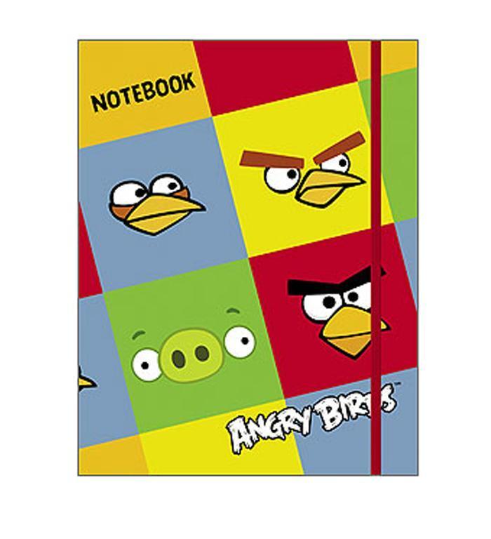 Бизнес-блокнот 80л А5ф 5-цв. блок клетка тв.переплет на резинке-ANGRY BIRDS-80ББ5Bр1_10378Бизнес-блокнот в твердом переплёте с резинкой. Листаж - 80 листов А5 формата.5-цветный блок. Клетка. Тип разметки: В клетку; тип бумаги: Шелковисто-матовая; формат: А5; обложка: Книжная; пол: унисекс; упаковка: Коробка картонная