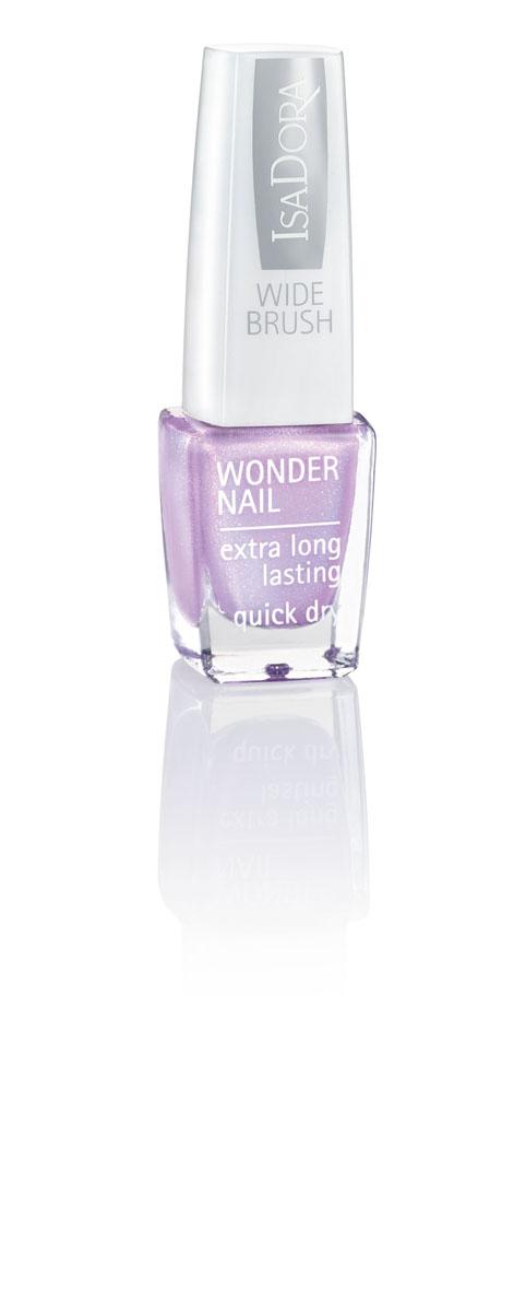 Isa Dora Лак для ногтей Wonder Nail, тон 730 Icy Lilacs, 6мл220730Стойкий и быстро сохнущий лак для ногтей Isa Dora Wonder Nail с широкой кисточкой, покрывающей ногти всего за один штрих. Долго сохраняет свой блеск.Кисточка имеет особую форму, так как каждый ее волосок индивидуально подстрижен, что позволяет избежать полосок при нанесении лака.Товар сертифицирован.