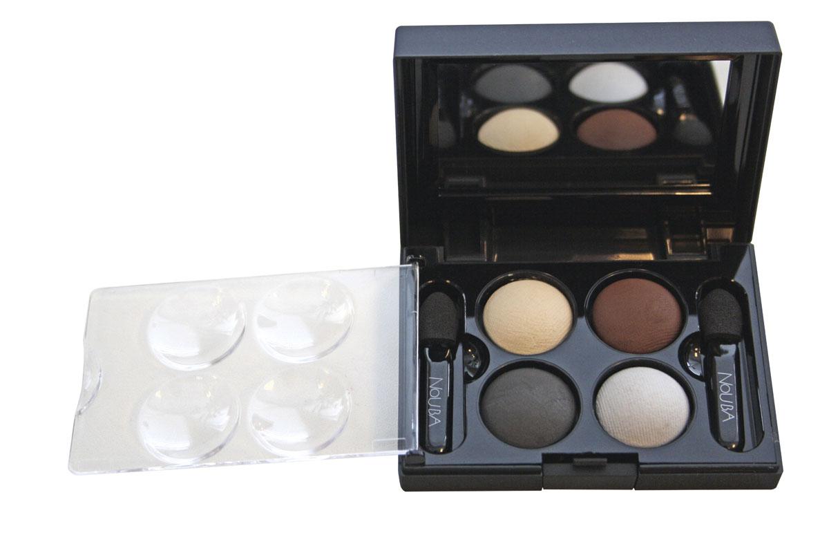 цена на NoUBA Тени для век Quattro Eyeshadow Mat, запеченные, 4 цвета, тон №642, 2,4 г