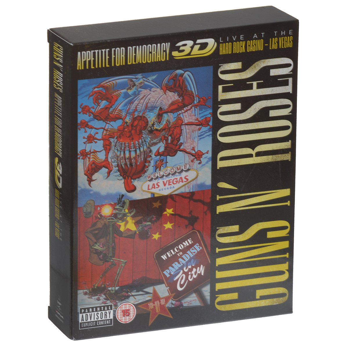 Guns N' Roses Guns N' Roses. Appetite For Democraty. Live At The Hard Rock Casino - Las Vegas (2 CD + Blu-ray) yours mine