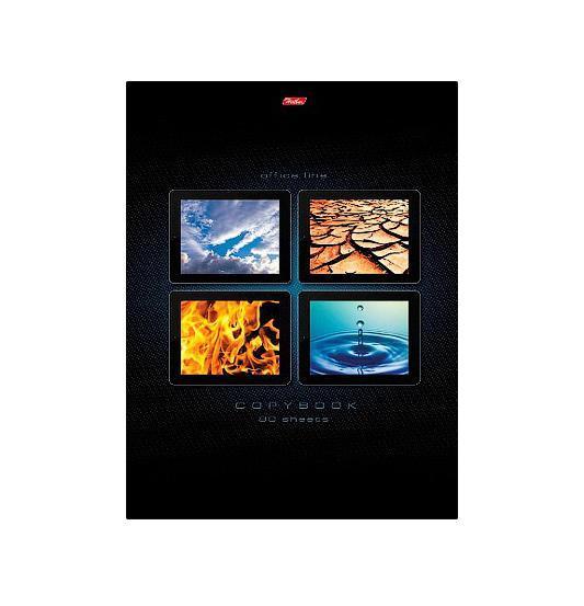 Тетрадь 80л А4ф 5-цв. блок клетка на клею-Элементы природы- пістолет для гарячого клею ціна