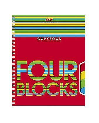 Тетрадь 120л А5ф на гребне 3 цв. разделителя перфорация на отрыв-Four Blocks-AN 1201/4M/5120 листов. 3 цветных разделителя. Микроперфорация на отрыв и перфорация для подшивки листов в архивную папку. Тип разметки: В клетку; тип бумаги: Шелковисто-матовая; формат: А5; обложка: картон; пол: унисекс; способ крепления: Гребень; упаковка: Коробка картонная
