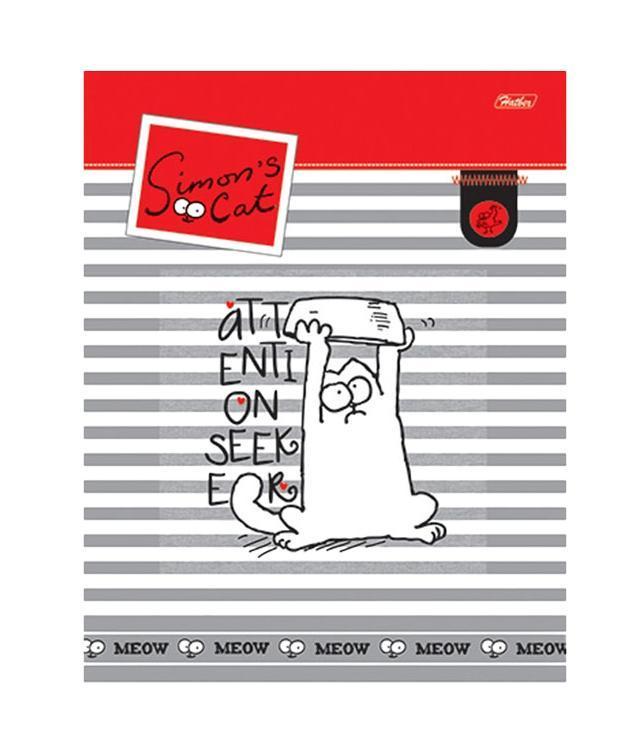 Тетрадь 96л А5ф Пластиковая обложка на гребне серия -Кот Саймона-(SC)96Т5B1грТетрадь 96 листов А5 формата с пластиковой обложкой на гребне Тип разметки: В клетку; тип бумаги: Шелковисто-матовая; формат: А5; обложка: пластик; пол: унисекс; способ крепления: Гребень; упаковка: Коробка картонная